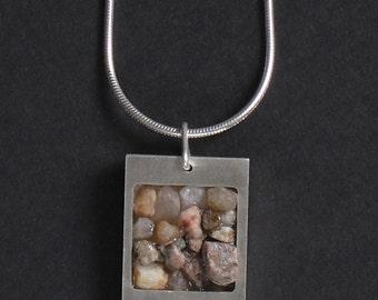 Stonewear - Sterling Silver Square Pendant