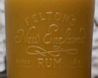 "Beeswax Candle - antique bottle shaped - XXL. ""1940 New England Rum Full-Quart"" - by Pollen Arts"