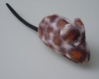 Little Fleece Catnip Mouse in Leopard Print