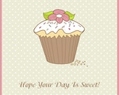Birthday Card - Sweet Cupcake