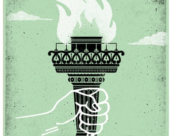Liberty Torch Art Print - 11 x 14 Handpulled Screenprint