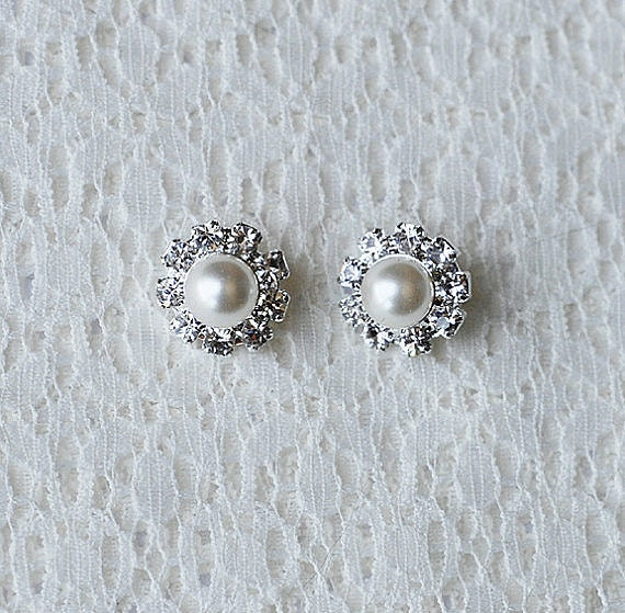 Bridal Earring Wedding Earring Rhinestone Earring Crystal Earring Pearl Earring Stud Earring Wedding Bridal Jewelry ER036LX