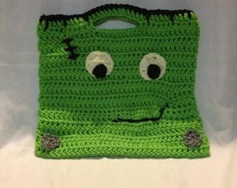 Halloween Candy Bag - Halloween Bag - Crocheted Halloween Bag - Crocheted Halloween Candy Bag - Reusable Candy Bag - Reusable Bag- Free Ship