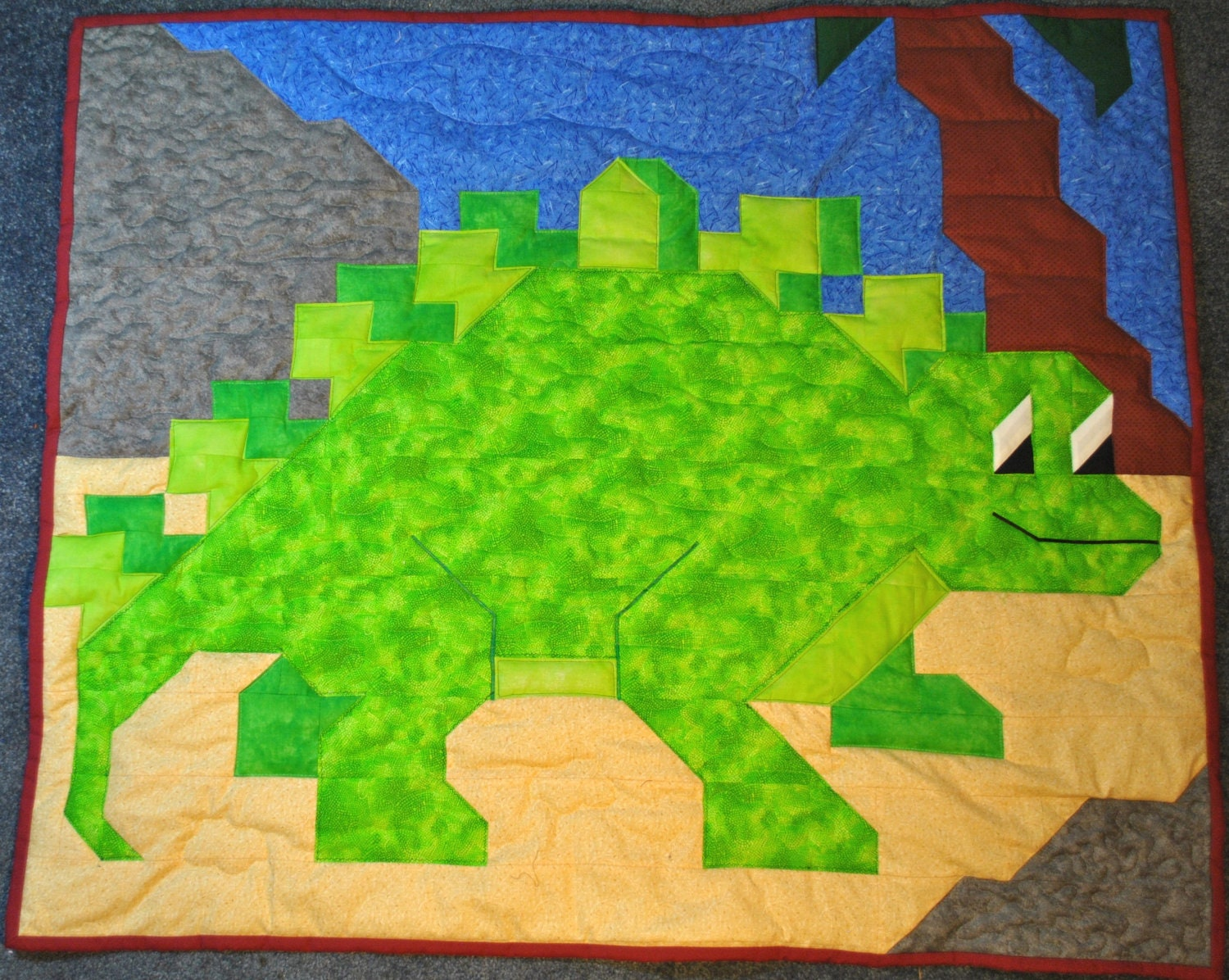 Dinosaur Quilt Pattern In Wall Crib And Lap Size Pdf