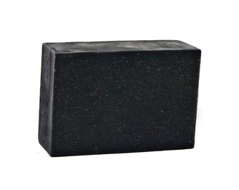 Detox Charcoal & Clays Japanese Black Soap, All Natural Herbal Shea Butter Soap, Mild, Clarify, Sensitive, Inflamed, Itch, Dry Skin, Acne