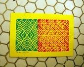 Block Print, 4X6