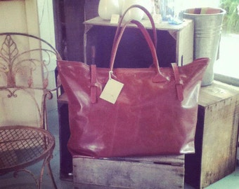 G-Gantic Leather Tote/Overnighter
