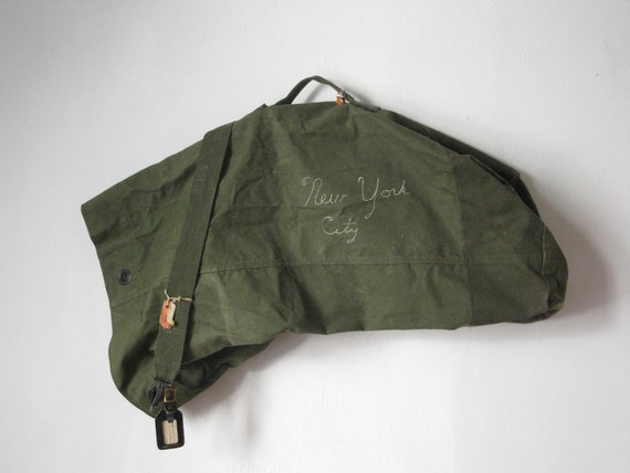 Vintage 60s US Navy Canvas Duffle Bag