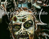 """The Walking Dead """"Group of Four"""" Zombie Art Print (11x17)"""