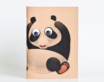Kraft Notebook Pocket Booklet A6 - Panda