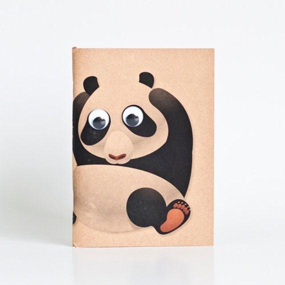 Kraft Notebook Pocket Booklet A6 - Panda