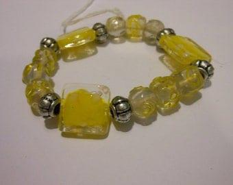 25% off- Yellow Stretch Bracelet sku31736