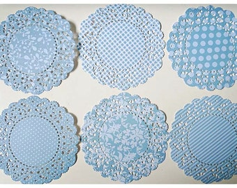 Parisian Lace Doily BlueBerry for Scrap booking or card making / pack