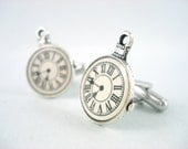 Tiny Pocket Watch Cuff Links - Steampunk Cufflinks Clock Cufflinks Watch Cufflinks Steampunk Cuff Links Watch Cufflinks Steampunk Wedding
