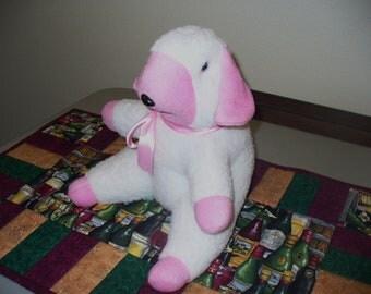 Pink Sitting Lamb