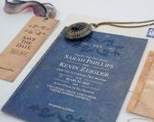 "Personalized Wedding Invitation Suite Vintage Book ""Dutch"""