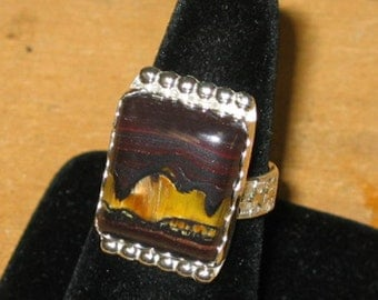 Ironstone in Sterling Silver Ring, Sz. 8 - 8 1/4, ON SALE
