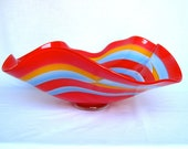Hand blown decorative bowl