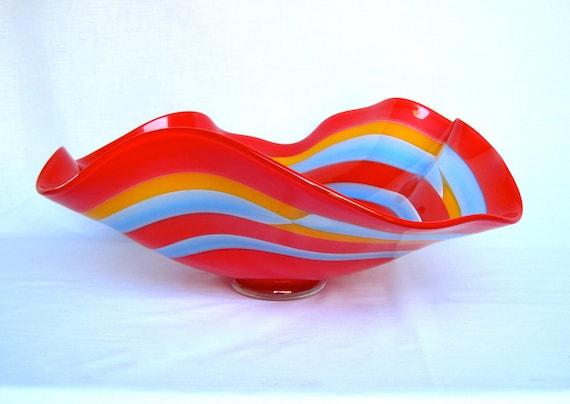 Hand blown decorative bowl