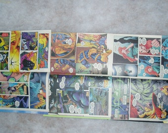 Superhero 16 Comic Book Pages, X-Force, Upcycle, Scrapbooking or Art Project Supplies