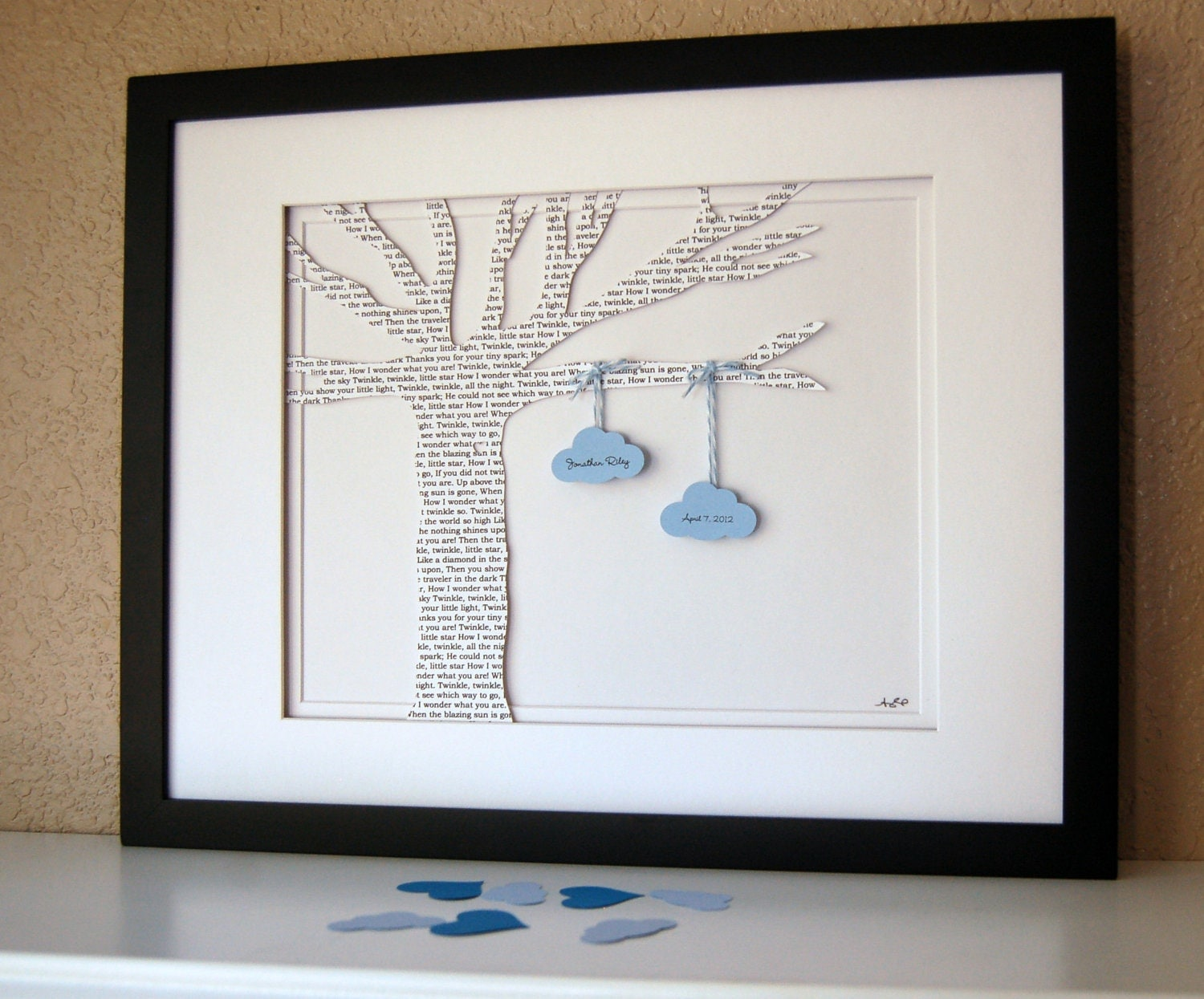 Cool Baby Boy Shower Gifts : Baby gift with clouds personalized lyric tree by