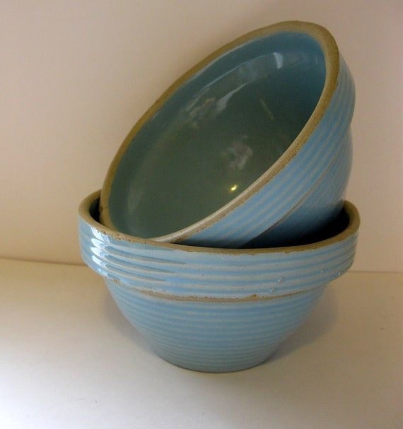 USA Pottery Stoneware Crockery Mixing Bowl by ...
