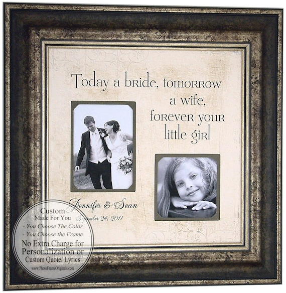 wedding gifts for parents for Mom and Dad Forever your Little Girl