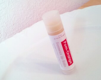 Pomegranate Orange Beeswax Lip Balm Handcrafted Shea Butter Lip Balm Moisturizing Tube