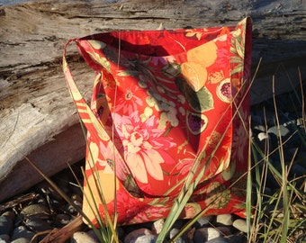 Floral and Fruit Tote Bag