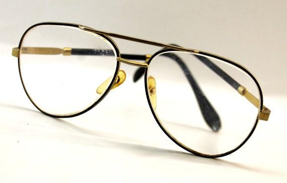 Metal Framed Aviator Style Glasses - Vintage Glasses
