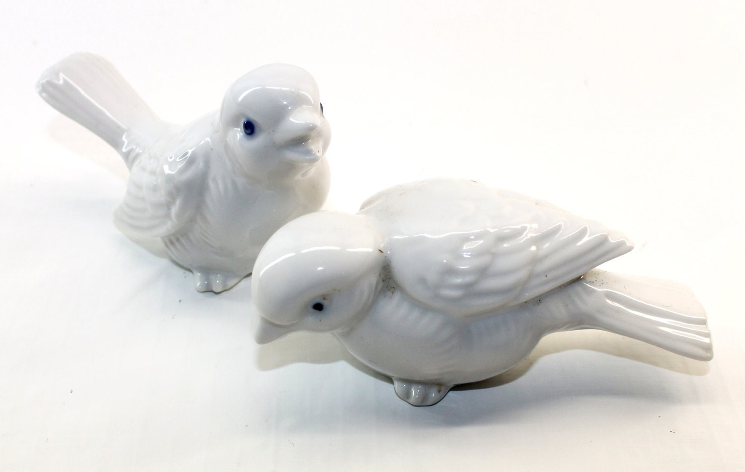 White Ceramic Bird Figurines