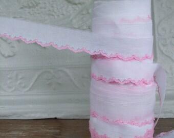 Pink Lace Trim
