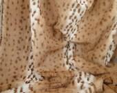 Beautiful Snow Leopard Faux Fur Fabric 1/2 Yard
