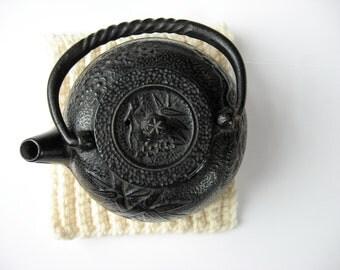 ribbed wool trivet/sculpture pad natural