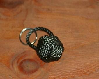 Monkey Fist Keychain or Zipper Pull Nautical Gift Wedding Favor Boaters Sailors Fisherman
