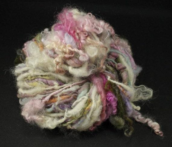 Handspun art yarn Soft romance, 2.8 oz, 45 yards