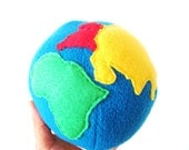 SALE - Montessori Inspired Planet Earth - Plush Globe Toy, Photo Prop, Educational, Eco-Friendly - LittleSmilesBoutique