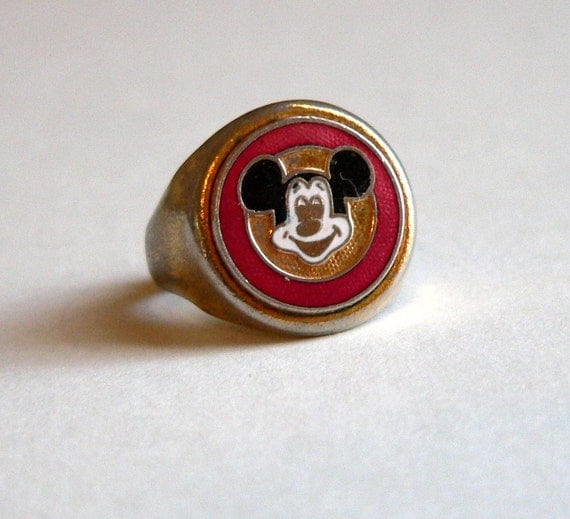 Mickey Mouse Ring Vintage Rare 1950 Collectible Child S