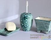 Toothbrush Holder and accessories handmade ceramic