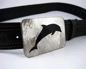 Dolphin Belt Buckle - Stainless Steel - Handmade