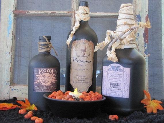 Harry Potter Halloween Potion Bottle Set of 4