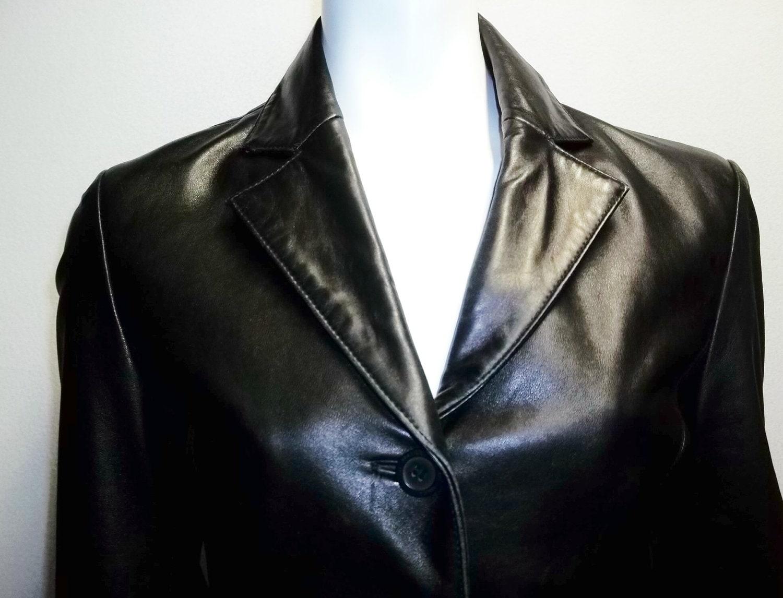 Leather jacket xs -  Leather Jacket Xs S New Zealand Lambskin Zoom