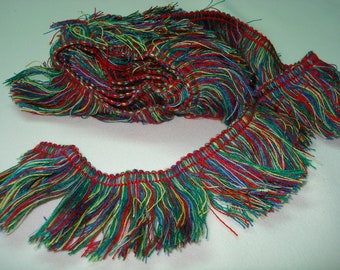 Multicolor Fringe Ribbon