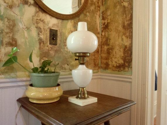 Milk Glass Lamp Antique Table Lamp Milk Glass Parlor lamp