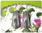 Casino 1931 Spoon Earrings, Art Deco, Vintage, Upcycled, Bridesmaid Gift, Vintage Wedding