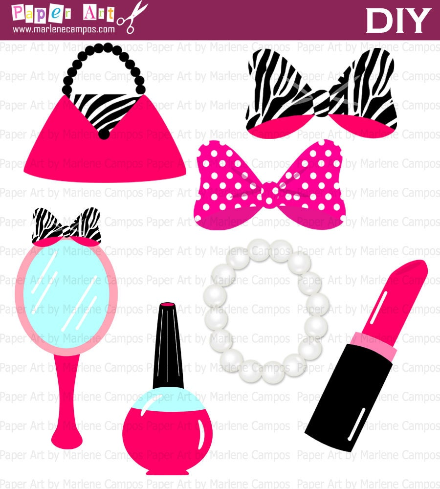 Minnie Clip Art Zebra Beauty Accessories Diva All By