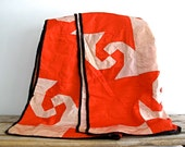 RESERVED Antique Red Silk Quilt - Vintage Blanket, Hand Made Vintage Bedding, Christmas Throw