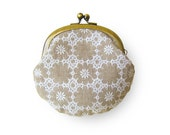 Embroidered Linen Coin Purse
