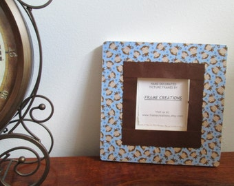 3.5 x 3.5 Monkey Themed - Hand Decorated Picture Frame