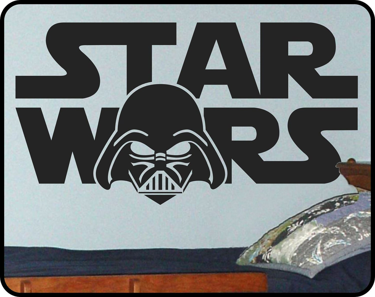 Star wars wall decal darth vader wall art boys room decor zoom amipublicfo Gallery
